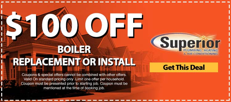 discount on boiler replacement or installation