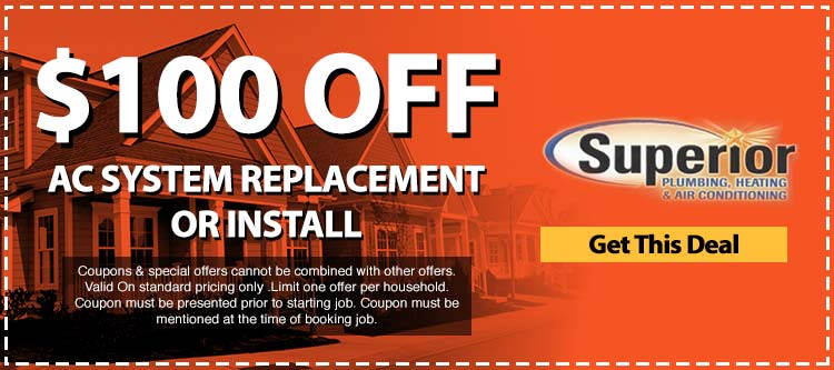 discount on ac system replacement or install