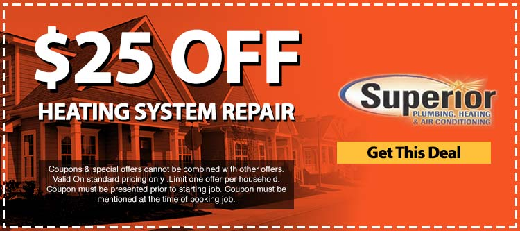 discount on heating system repair