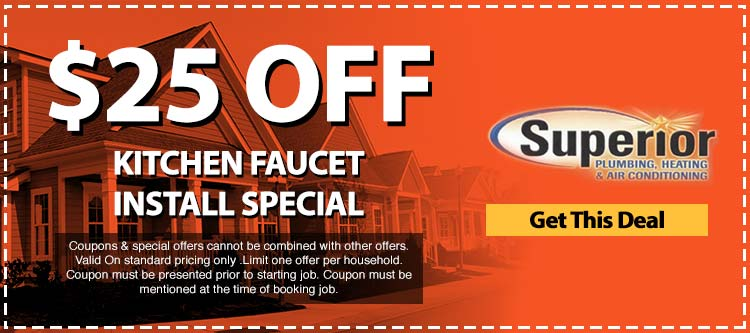 discount on kitchen faucet install special