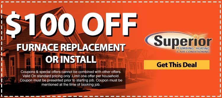 discount on furnace replacement or installation