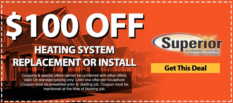 discount on heating system replacement or installation