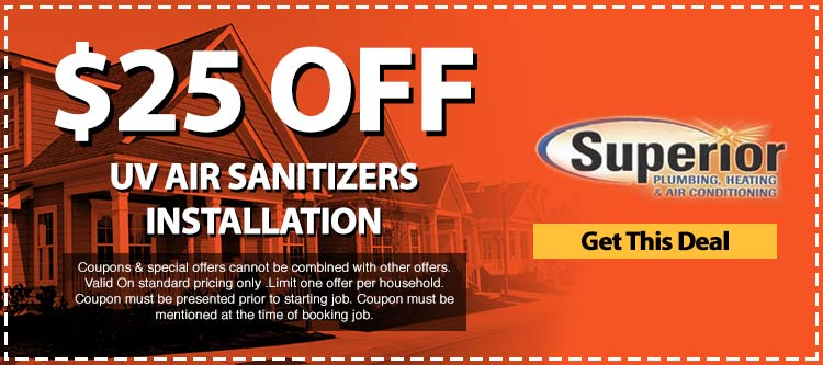 discount on uv air sanitizer installation